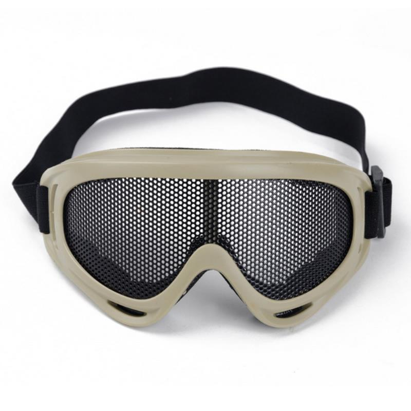Outdoor Hiking Eyewear Airsoft Tactical Eye Protection Mask Metal Mesh Glasses Camping Hunting Safety Goggle 3 Colors