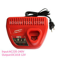 AC220 240V Li ion Charger for Milwaukee M12 Input Output 12V 10.8V 48 59 2401 48 11 2402 Power Tools