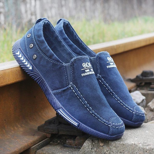 Fashion Denim Men Canvas Shoes Male Summer Sneakers Slip On Casual Breathable Shoes Loafers Chaussure Homme Zapatos De Hombre
