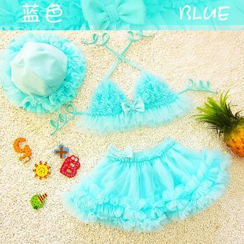 2017 new female baby split bikini child three-piece suit cute Korean female size hot spring baby churrasqueira para fogão