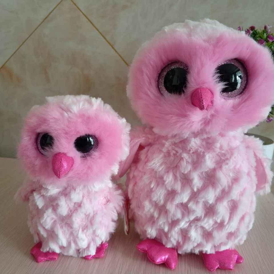 twiggy owl TY BEANIE BOOS 2pcs 25cm and 15CM 6