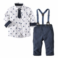 SexeMara Children Clothing Sets Baby Boy Clothes Sets Toddler Boys Gentlema Suit Long Sleeve Boys Sport Suits Kids Clothes Set