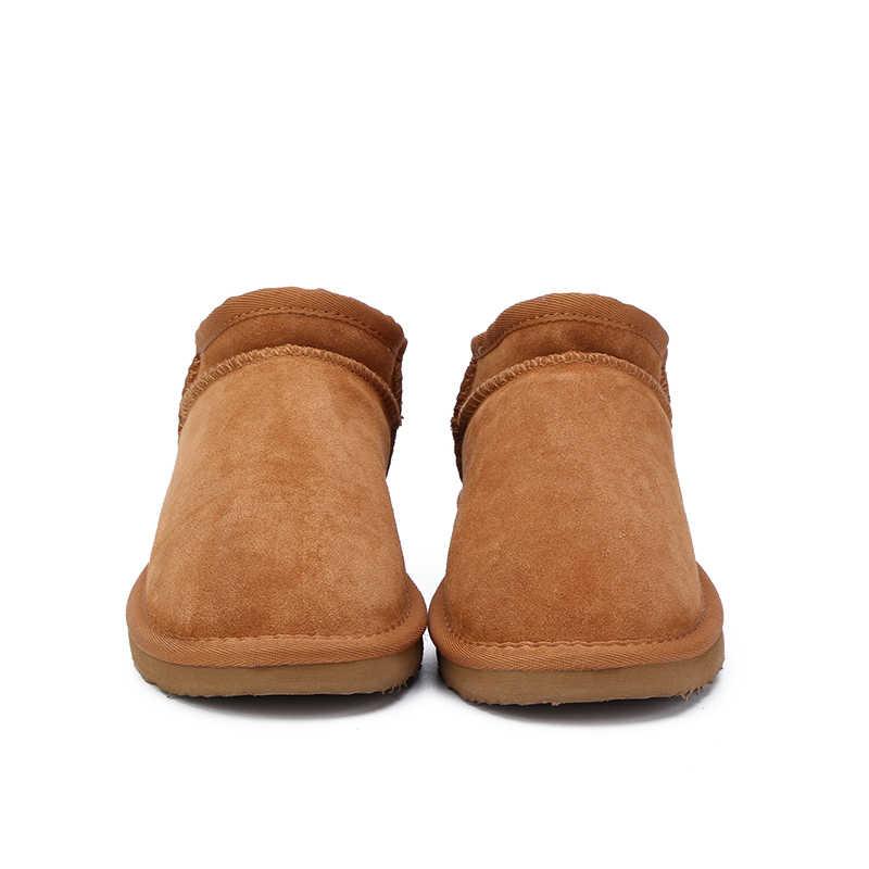HABUCKN Frauen Australien Klassische Stil Schnee Stiefel Winter Warme Leder Wohnungen Warterproof Hochwertige Stiefeletten große größe