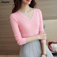 2018 women fashion sweater soft real shot Xnxee Korean version of the fall, new womens clothing, shirt 19