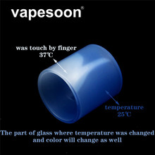 vapesoon Atomizer Glass Color Change Replacement Tube Black Yellow Red Blue for Manta RTA Capacity 3.5ml Tank Atomizer