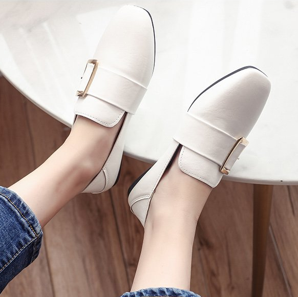 Respirant Chaussures Mode Rétro Britannique Femmes Marche Plat De Casual Simples Peu Profondes AqAEZv