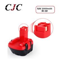 Eleoption 12V Ni-CD 2000mAh Power Tool Battery for Bosch GSR BAT043 / 045 BTA120 26073 35430