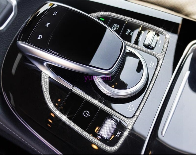 Angelguoguo Car Control The Mouse Touchpad Ons Frame Decoration Cover Sticker For Mercedes Benz Glc X253 C W205 E Cl W213