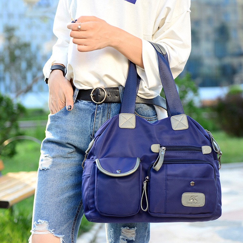 KVKY New Women nylon Oxford cloth shoulder bag large canvas handbags European and American Style Crossbody messenger Bag