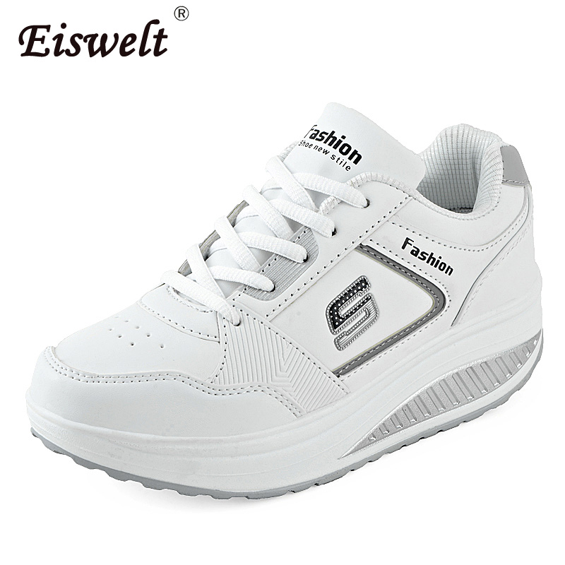 EISWELT 2017 Fashion Women Flats Fitness Lady Shoes Women Casual Shoes Slimming Platform Shoes Women ZQS024