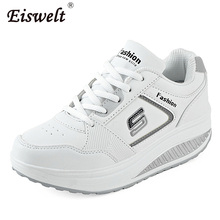 EISWELT 2017 Mode Femmes Appartements Dame de Remise En Forme Chaussures Femmes Casual Chaussures Minceur Plate-Forme Chaussures Femmes # ZQS024