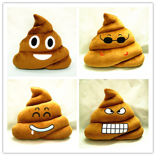 regino cushion emoji pillow gift cute shits poop stuffed toy doll christmas present funny plush bolster - Christmas Poop