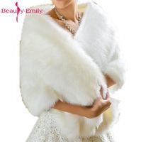 Hot Sale 2018 Cheap Fashion Wedding Jacket Bride Wraps Winter Wedding Dress Wraps Bolero Bridal Coat