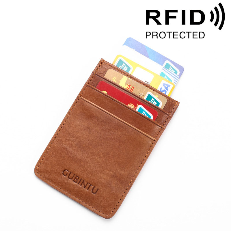 Brand New RFID Protector Genuine Leather Credit Card holder Credit Card Pack Thin Card Case Money Cash Clip Wallet Card Pack hot sale 2015 harrms famous brand men s leather wallet with credit card holder in dollar price and free shipping