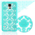 For Samsung Galaxy J5 Gramd Prime G530 A3 A3100 A5 2016 S6 S7 Edge Phone Case Damask Vintage Flower Pattern Back Cover Coque