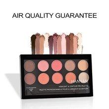 10 cores matte profissional eyeshadow paleta pigmentos maquiagem shimmer sombra de olho em pó contorno cosméticos