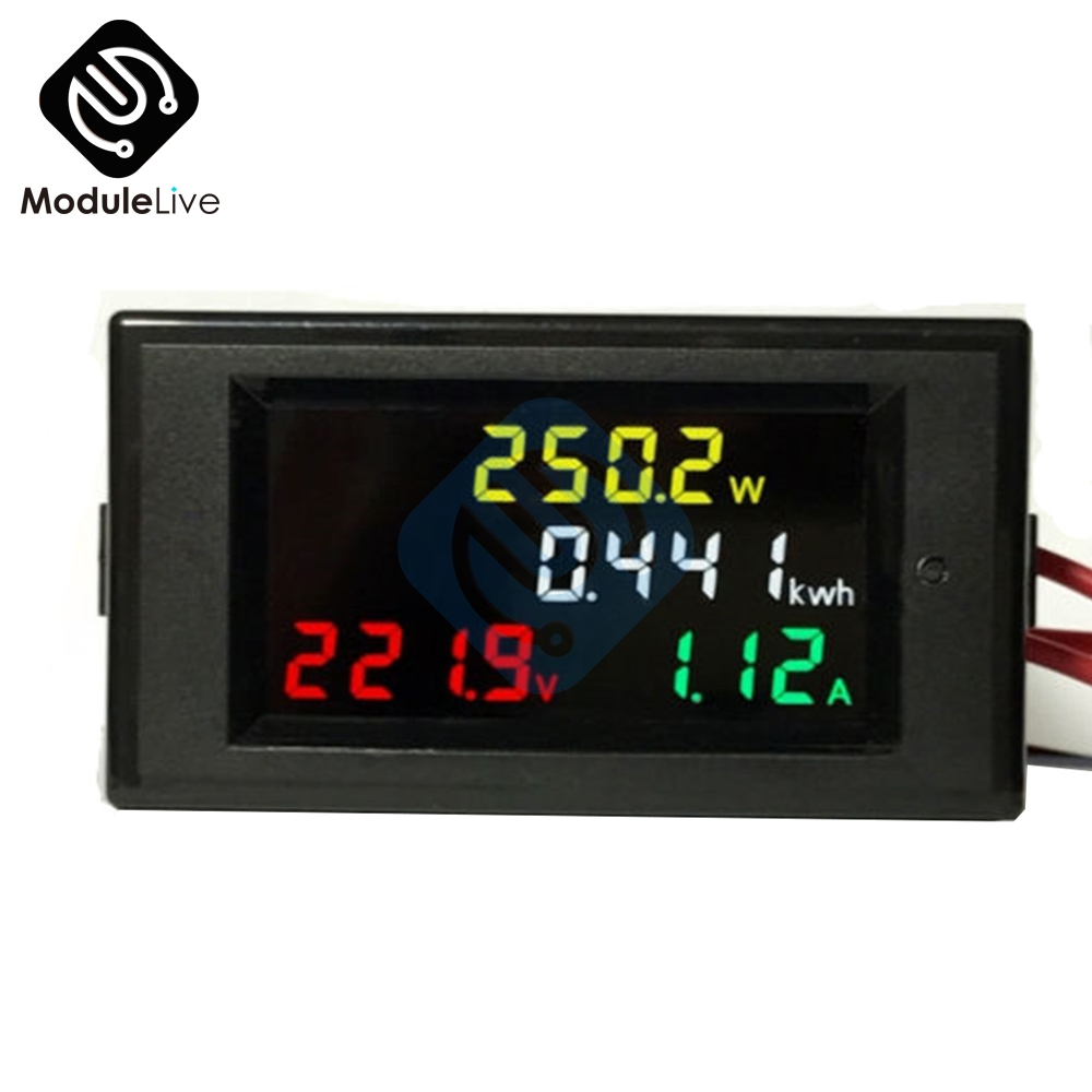 LCD Voltmeter Ammeter Volt Amp Power Kwh Panel Meter 100A CT AC 200V-450V 1 pcs black ac digital ammeter voltmeter lcd panel amp volt meter 100a 300v 110v 220v brand new hot sale