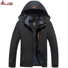 Artı boyutu 6XL 7XL 8XL erkek su geçirmez ceket bahar sonbahar rüzgar geçirmez yağmurluk dış giyim turizm dağ ceket erkek giyim