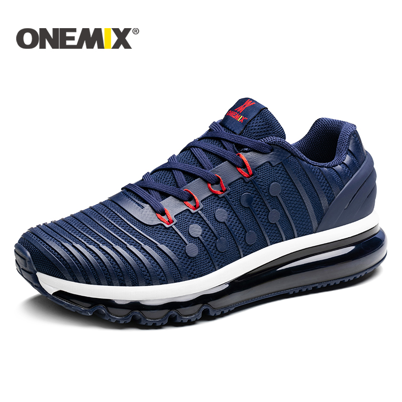 ONEMIX men running shoes 2018 new Air cushion running shoes men Breathable Runner mens athletic shoes Sneakers for men size39-46 title=