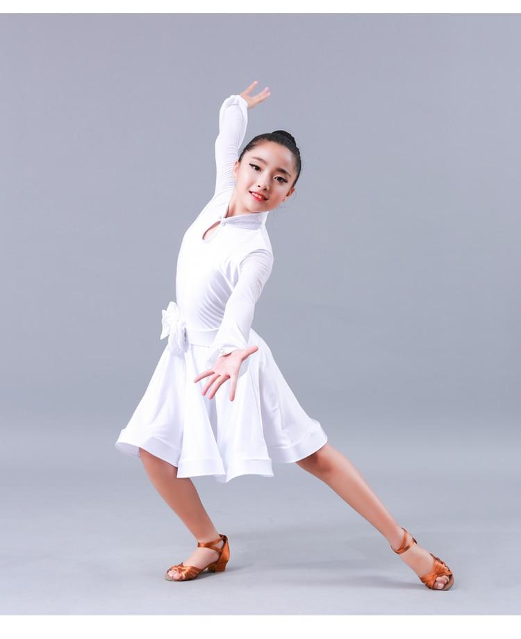 1682a693 ộ_ộ ༽Dziewczyna dzieci długie rękawy standardowy Latin konkurs ...
