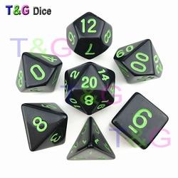 7 poliédrico Dice de Acrílico D & D RPG