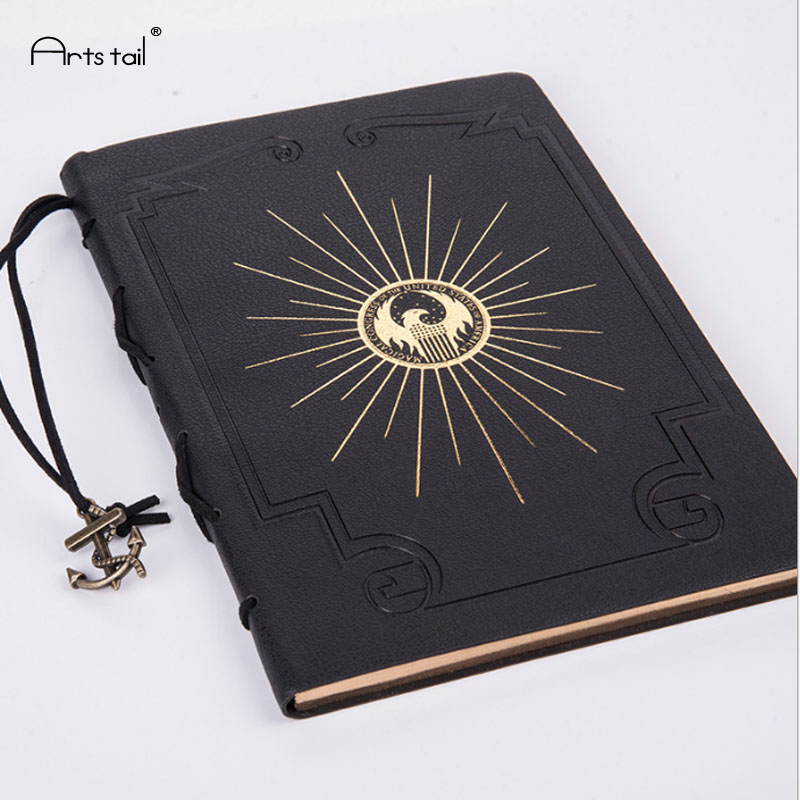 A5 PU Cover Retro Caribbean Style Rope Iron Anchor Ocean Map Treasure Hunt Travel log Student Notes Notebook Cool Staitonery maritime travel log classic vintage retro classic pu leather blank pages copper plated sea anchor and straps sketchbook notebook