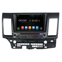 Android 8.0 octa core 4GB RAM car dvd player for MITSUBISHI Lancer 2006 2012 ips touch screen head units tape recorder radio
