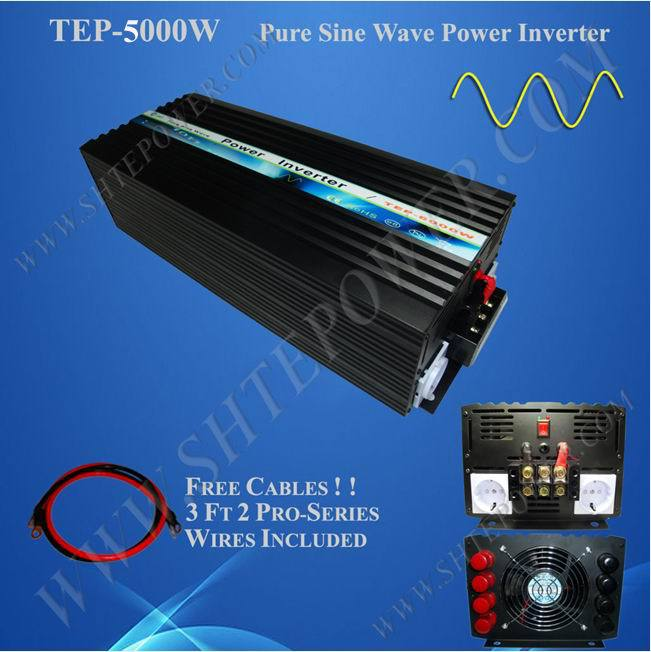 wind solar system sine pure wave off grid dc ac home inverter 12v 220v 5000w