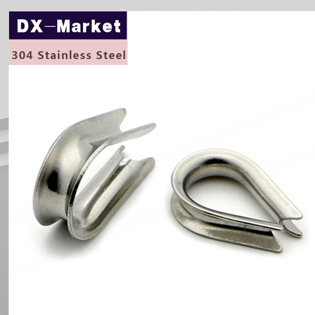 16mm wire rope thimble , 5pcs/lot , stainless steel 304 wire rope ...