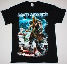 AMON AMARTH JOMSVIKING DEATH METAL CHILDREN OF BODOM AMORPHIS NEW BLACK T-SHIRT Summer Man T Shirt Tops Tees New