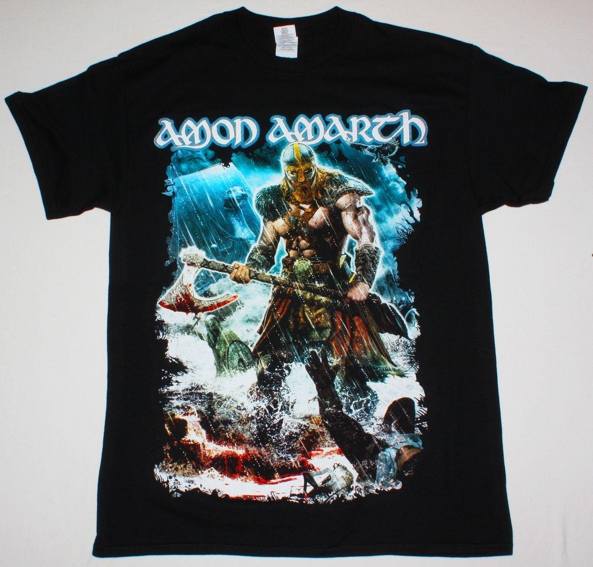 AMON AMARTH JOMSVIKING DEATH METAL CHILDREN OF BODOM AMORPHIS NEW BLACK T-SHIRT Summer Man T Shirt Tops Tees New
