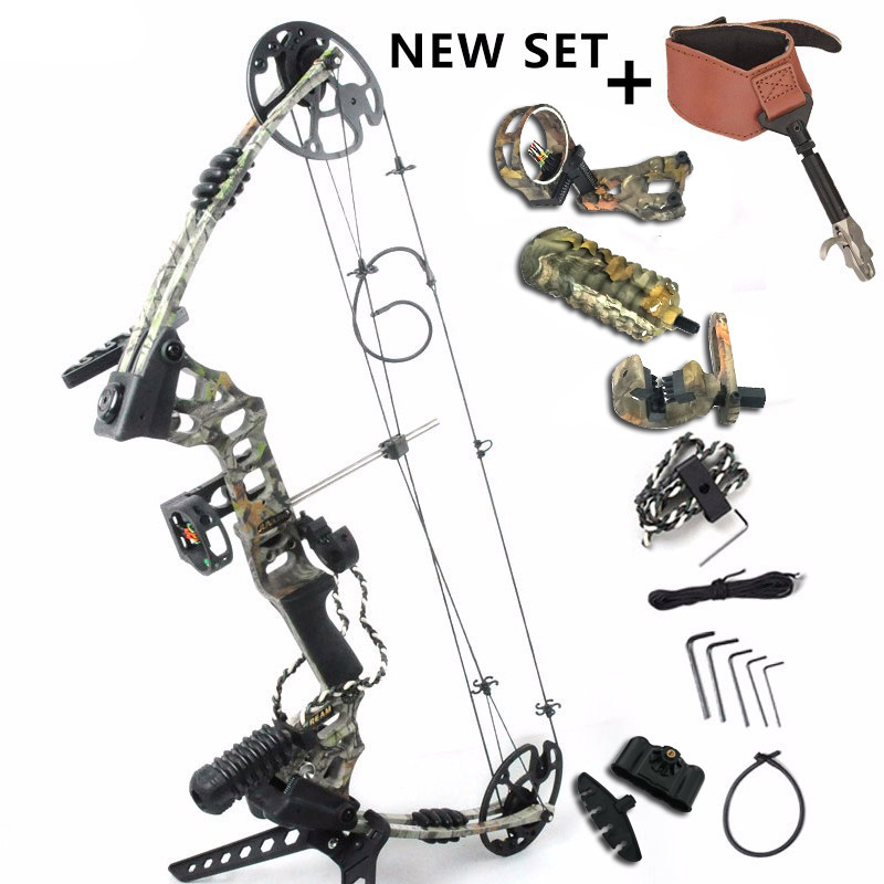 Junxing M120 Arco Compound per la Caccia Tiro Con L'arco arco fionda con 20-70 Lbs Disegnare Peso 320 fps Outdoor Umani tiro Set