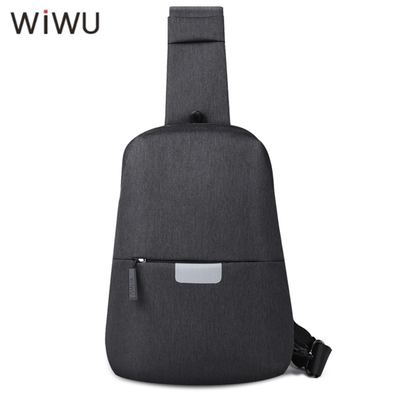 WIWU Crossbody Bags for Men Messenger Chest Bag Pack Casual Waterproof  Nylon Bags Single Shoulder Strap Pack 2018 New Fashion 4549fa19a3