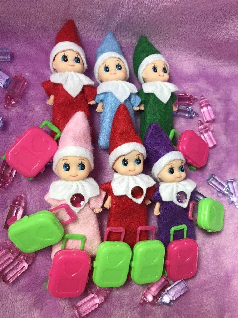 Date bébé elfe garçon & fille avec bouteille et coffre 10 pièces/20 pièces/30 pièces/50 pcs pour enfants noël nouvel an Tradition cadeau
