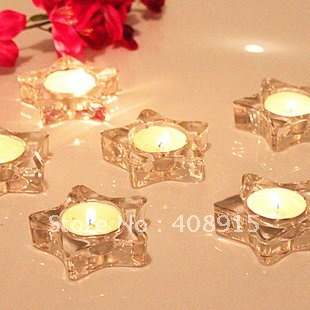 clear heart u0026 star shape tealight 75x75x20mm delicate glass candle holder wholesale