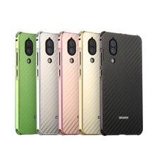 For sharp aquos s2 Case Aluminum Metal Frame+Carbon Fiber Hard Back Cover for SHARP AQUOS S2 Shockproof Phone Shell