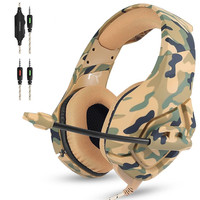 ONIKUMA K1 Camouflage PS4 Gamer Headset Gaming Headphones Earphones Best Casque With Microphone For PC Mobile
