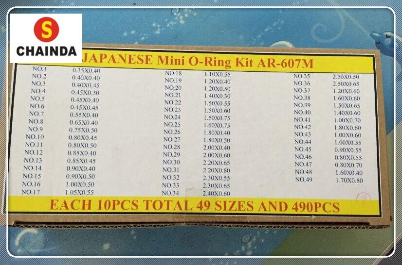 Livraison gratuite 1 Set 490 pièces japonais Mini joint torique pour montre couronne tailles spéciales pour montres de marque-in Outils et kits de réparation from Montres    1