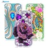 3D Handmade Bling Rhinestone Case Luxury Glitter Diamond Hard PC Transparent Protective Phone Back Cover For Apple iPhone 6 6S