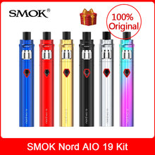 Original SMOK Nord AIO 19 Kit+built in 1300mAh Battery+Nord coil Electronic Cigarette VS novo/nord vape/stick prince pen kit все цены