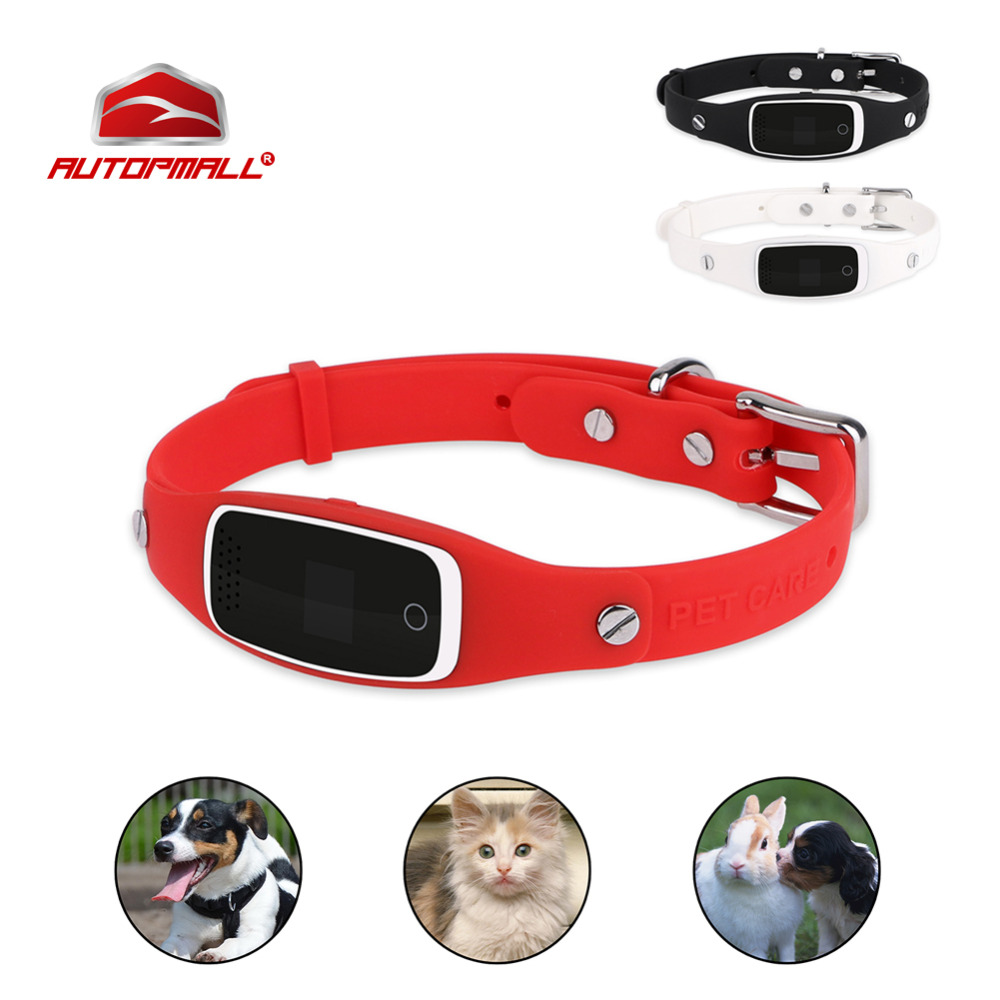 Dog GPS Tracker Pet GPS Collar Real Time Tracking GSM GPRS Locator Silicon Collar GPS+LBS+WIFI Positioning Geo Fence Free APP