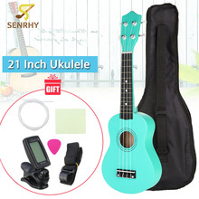 SENRHY 21″ Economic Soprano Ukulele Start Pack with Gig bag + Tuner + Pick + Strap + Cleaning Cloth Sets High Quality