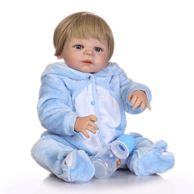 23inch Full Silicone Reborn Baby Boy Newborn Baby Doll Can Bath For