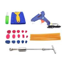 25pcs PDR Tools Glue Gun With Slider Hammer Dent Puller Tabs For Car Paintless Dent Repair