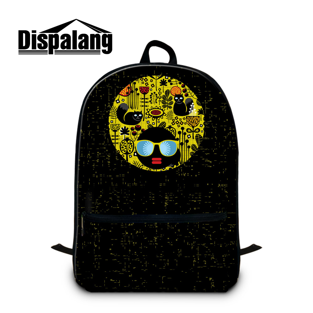 Dispalang Laptop Backpack Cartoon Cat Striped Print School Bag for Teenagers Multi-Function Back Pack Laptop Bag for Men Women