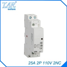 25A 2P 2NC 110V Modulus of household AC mini contactor,home contactor, Hotel Restaurant modular contactor