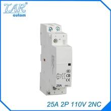 цена на 25A 2P 2NC 110V Modulus of household AC mini contactor,home contactor, Hotel Restaurant modular contactor