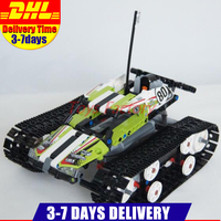 Presell 2017 Lepin 20033 397pcs Technic Series Remote Control Caterpillar Vehicles Building Blocks Bricks Educational Toys