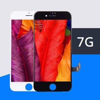 10 unids/lote 100% prueba AAA sin píxeles muertos para IPhone 7 LCD pantalla táctil digitalizador montaje reemplazo negro blanco libre de DHL