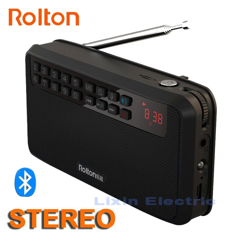 Rolton E500 Stereo Bluetooth Speaker Portable Wireless Subwoofer Music Sound Box Handsfree Loudspeakers FM Radio And Flashlight